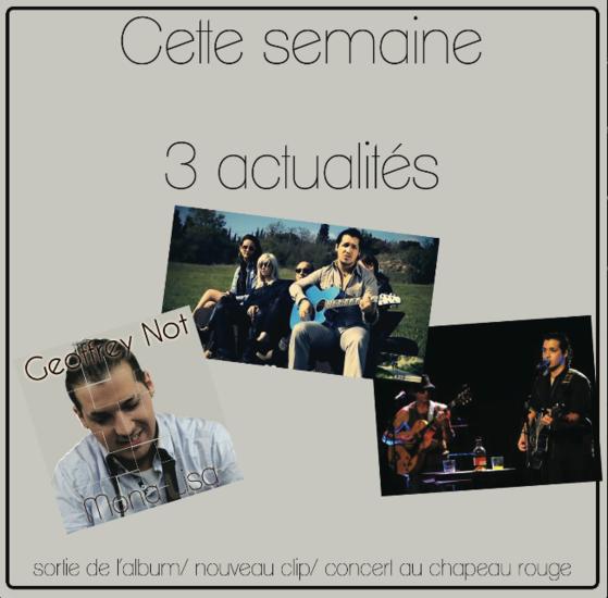 Venez l'écouter pour la sortie de son Album le 1er  février  au Chapeau Rouge à Carcassonne , j'y vais et vous ???