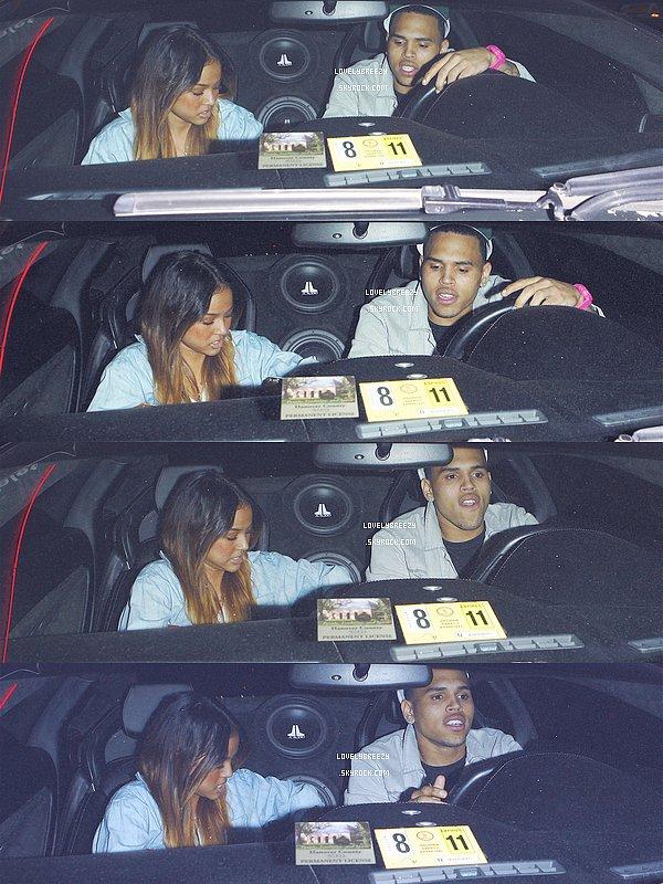 Chris Brown dîne à Philippe Chow à Hollywood - Chris Brown roule en Lamborghini à Los Angeles - Chris Brown va dans une salle de Gym à Beverly Hills, en Californie