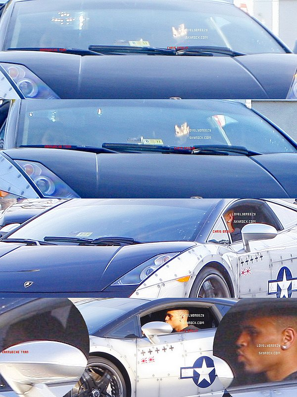 Chris Brown dîne à Philippe Chow à Hollywood - Chris Brown roule en Lamborghini à Los Angeles - Chris Brown va dans une salle de Gym à Beverly Hills, en Californie