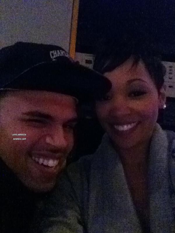 Chris Brown et Monica était en studio avec Polow Da Don (Producteur)