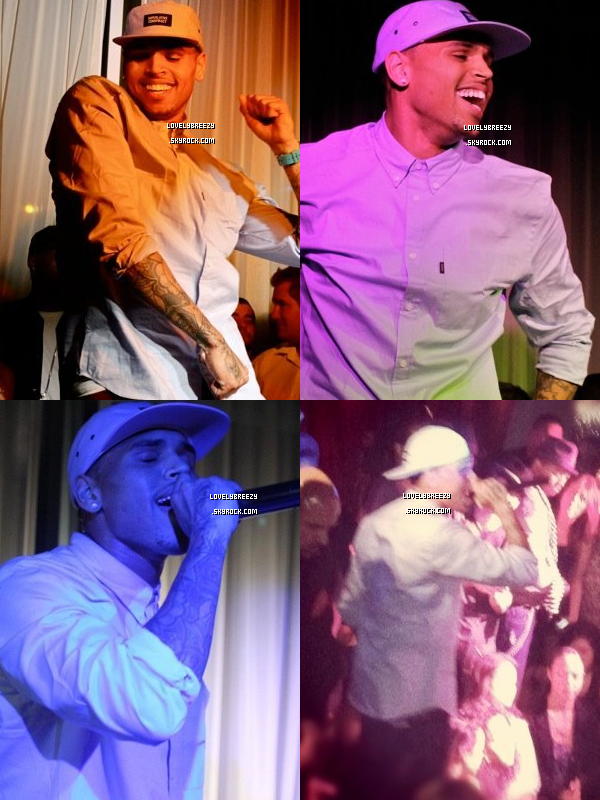 Chris Brown à Hollywood la nuit dernière