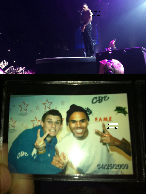 Première photos du concert de Chris en Adelaide - Australie (photos de fans)