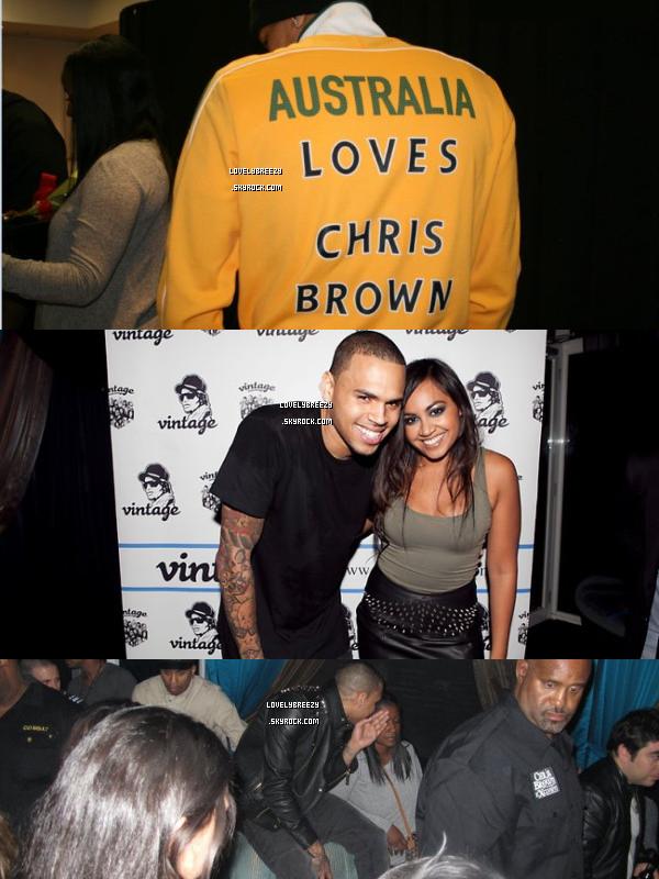 Chris Brown en Australie