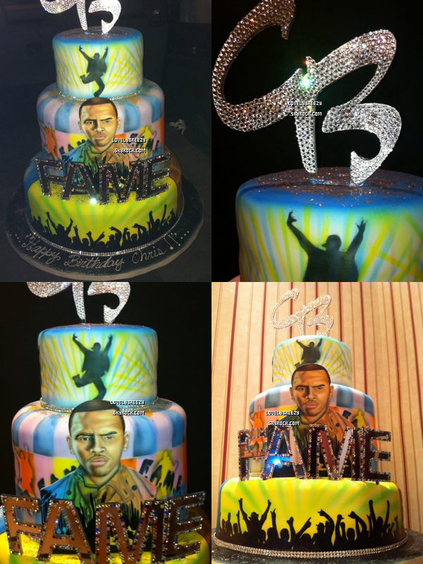 Chris Brown fête son anniversaire au Club Play à Miami (+ photos de son gâteau d'anniversaire)