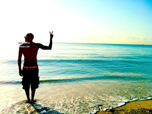 Chris Brown à la plage (Twitpic de Chris Brown il y a quelques minutes)