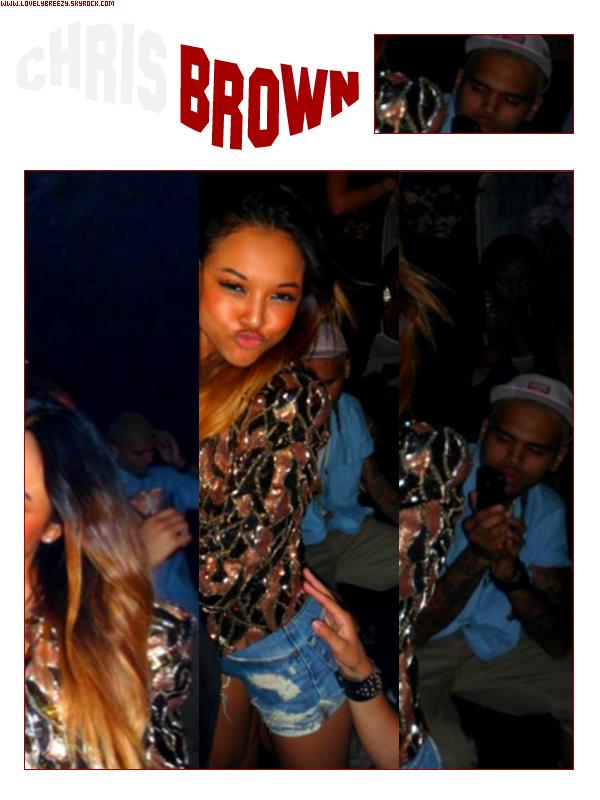 ~ Candid ~ Chris Brown - à la fête d'anniversaire de Karrueche Tran ( Encore Merci à Lola :) )