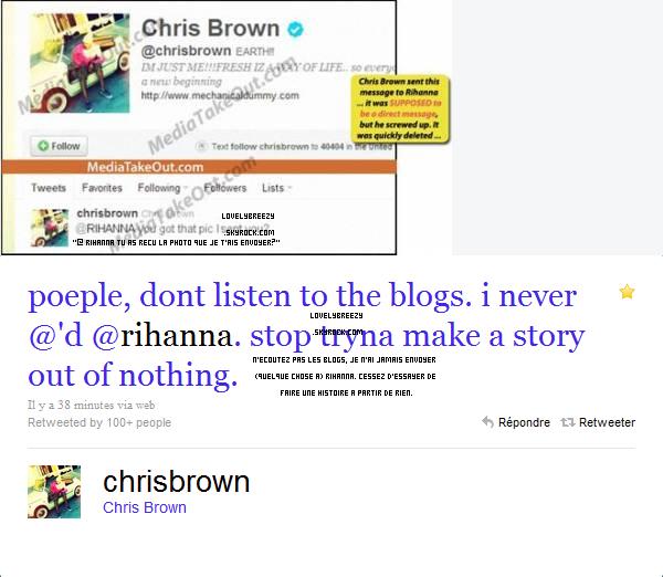Chris aurais envoyer une photo nu de lui...FAUX ! (a pars le tweet mets ce n'était pas une photo nu)