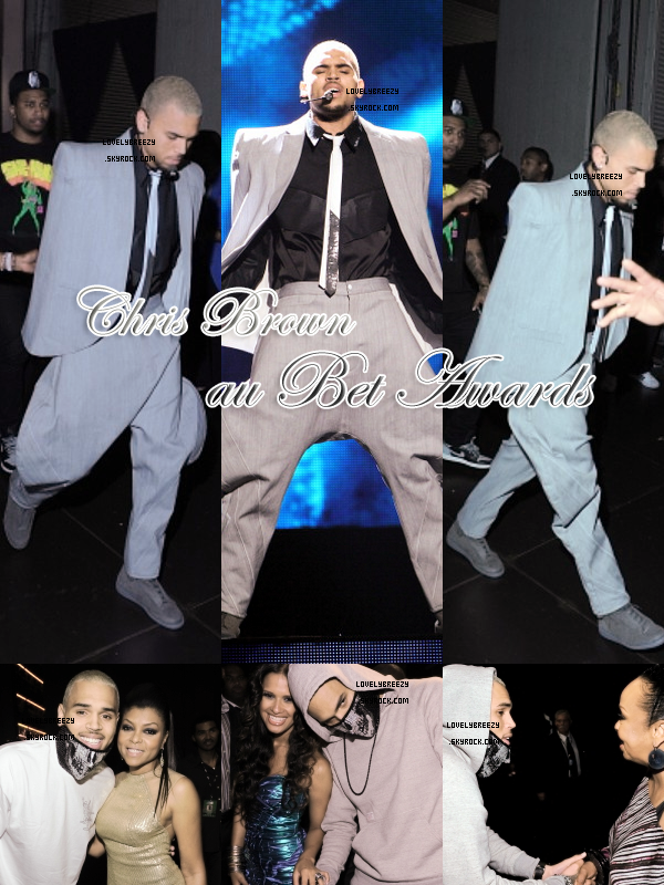 Chris Brown au Bet Awards 2011 ( Il a gagner 6 awards !)