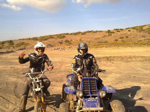 yamaha banshee 350 cc et ktm 125 cc