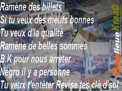lyrics sales / Ramène Des Billets (2011)
