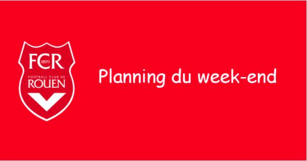 Le planning du week-end