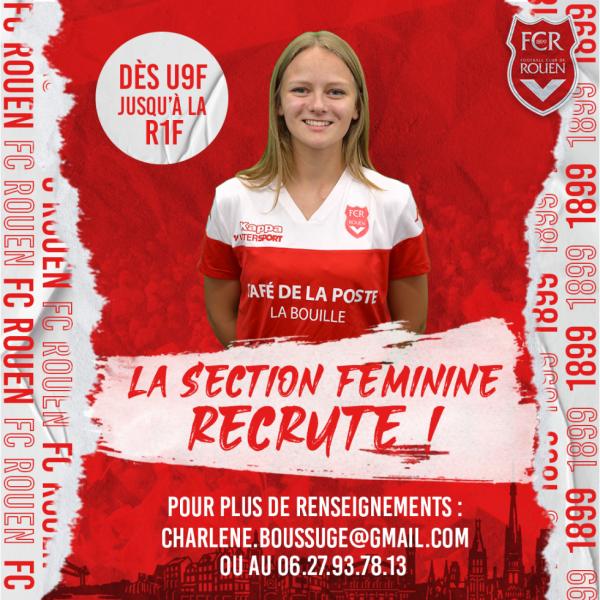 La section féminine du FCR recrute !