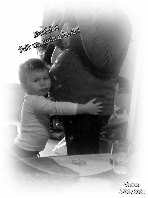Petite photo avec mon fils et mon gros bidon ! ^^