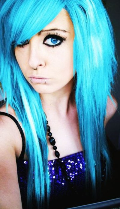 blue emo scene hair site model girl bibi barbaric
