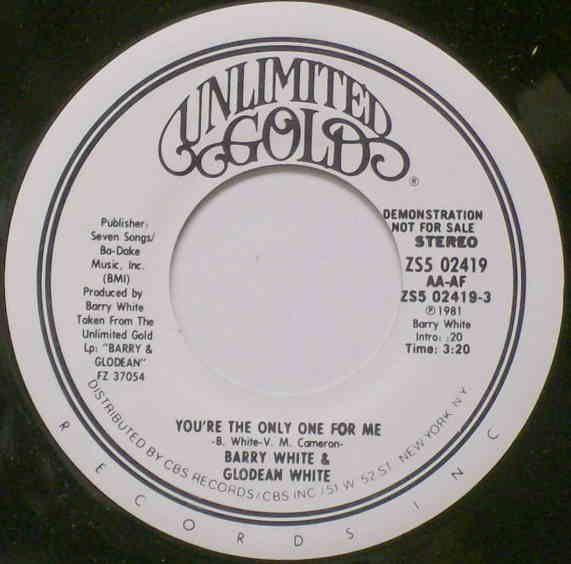 Barry & Glodean - You're The Only One For Me
