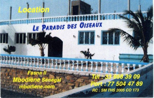 le paradis des oiseaux au Sénégal pour vos vacances  mbodiene.com