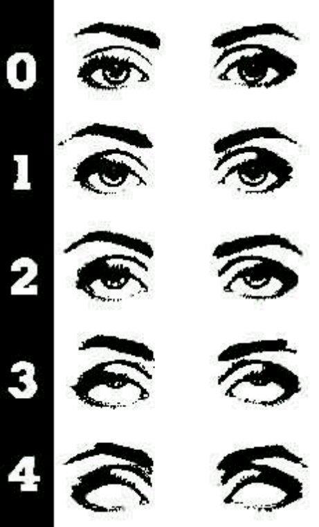 Les yeux d une personne mis sous hypnose