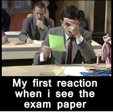 Ma tête, aujourd'hui, devant mes examens, ...