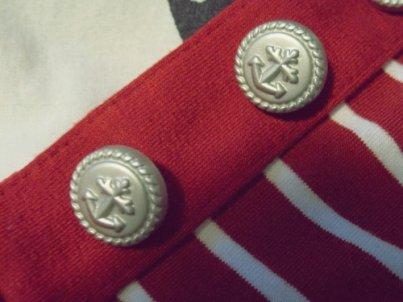 Marinière rouge boutons marins - taille S/M - Propose ton prix