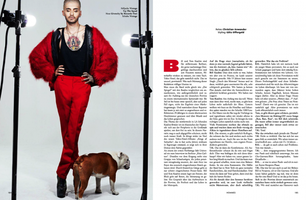 A rticle de L'Officiel Hommes (Allemagne)  (traduction)