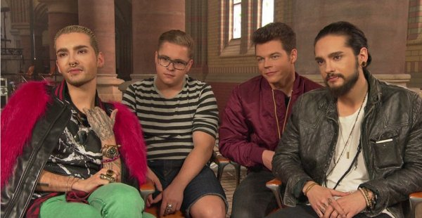 """Vidé-NDR, 24.03.2015: """"De retour à la maison: Tokio Hotel en interview""""."""