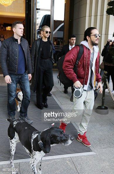 Photos de la presse pour la sortie de Tokio Hotel de l'hôtel Berlin