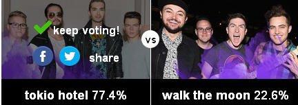 Musical March Madness - 4e round : Tokio Hotel vs Walk the Moon - VOTEZ