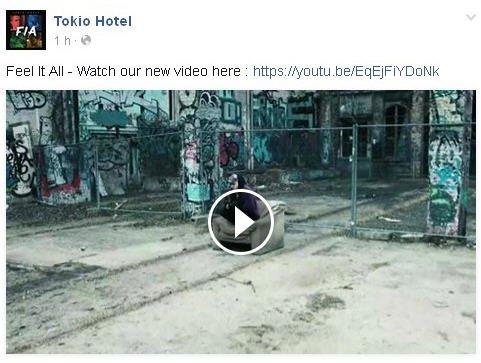 Facebook Tokio Hotel : Feel it all-Regardez notre nouvelle vidéo ici: https://youtu.be/EqEjFiYDoNk
