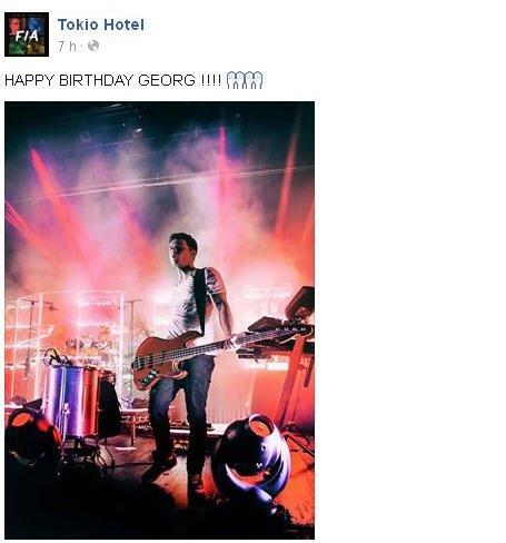 Facebook Officiel Tokio Hotel : JOYEUX ANNIVERSAIRE GEORG !!!!