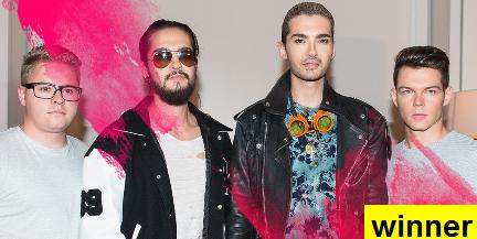Message de  remerciements de Tokio Hotel pour leur avoir fait gagner le Musical March Madness