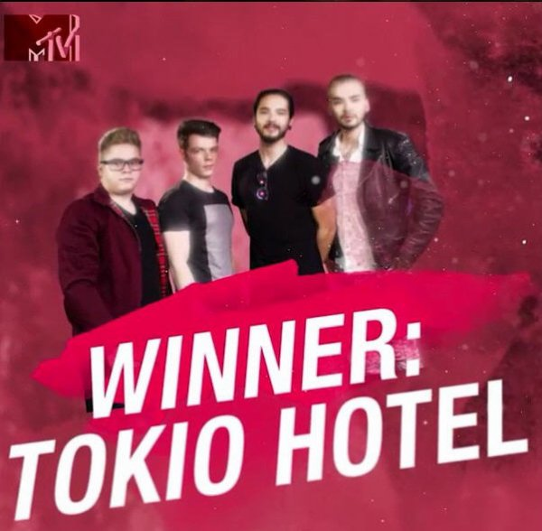 Instagram mtv :  Tokio Hotel est le vainqueur officiel de Musical March Madness!!!