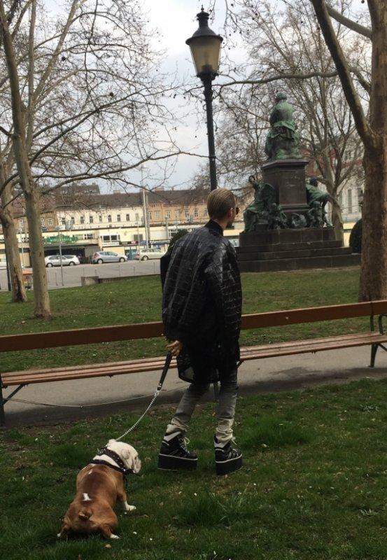 26.03.2015 Vienne - Bill Kaulitz avec Pumba
