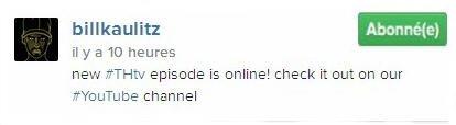 Instagram Bill Kaulitz :  nouvel #THtv  épisode en ligne! Regardez le sur #YouTube channel