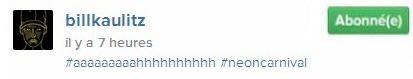 Instagram Bill Kaulitz : #aaaaaaaaahhhhhhhhhh #neoncarnival