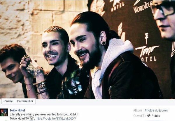 Facebook Tokio Hotel :
