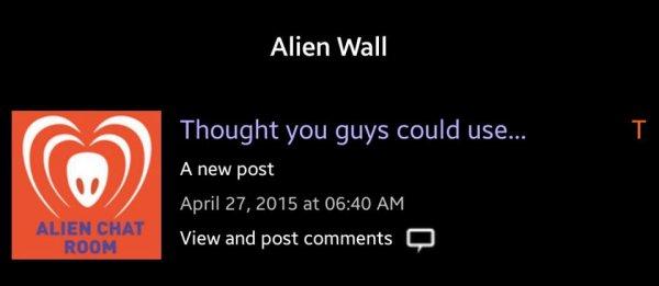 BTK Alien Wall : pensé que vous pourriez utiliser ...un nouveau post