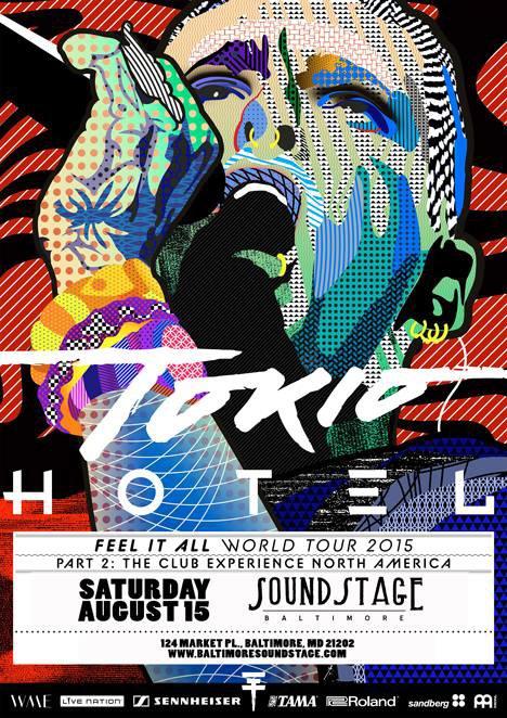 Affiche pour le concert de Baltimore-15.08.2015.