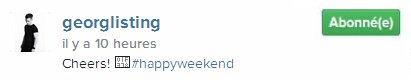 Instagram Georg Listing : A votre santé #bon weekend