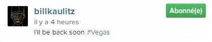 Instagram Bill Kaulitz : je reviens vite #vegas
