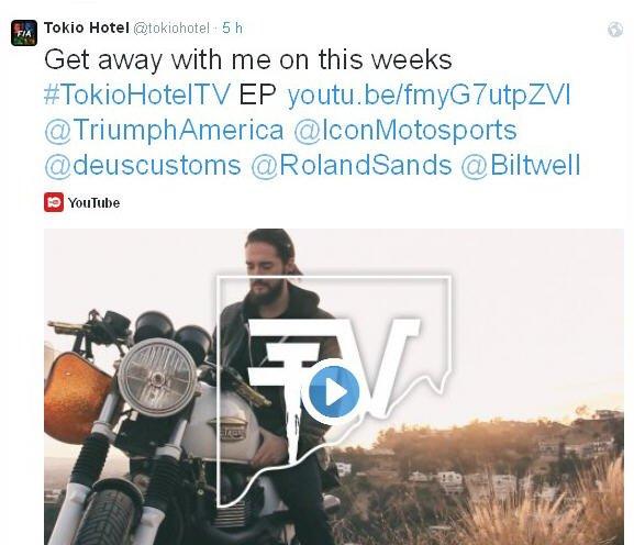 Twitter Tokio Hotel : Suivez-moi dans l'épisode de cette semaine de#TokioHotelTV