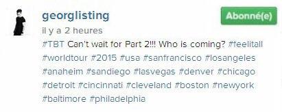 Instagram Georg Listing : #TBT Vous ne pouvez pas attendre pour la partie 2 !!! Qui vient?