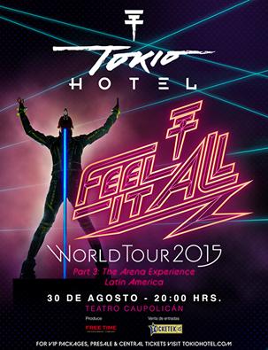 Affiche pour le concert au Chili