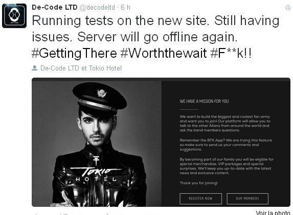 Twitter De-Code LTD  : Problèmes. tests sur le nouveau site.
