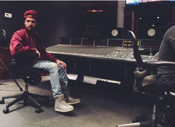 Instagram Bill kaulitz : Retour en studio #nouveauxprojets
