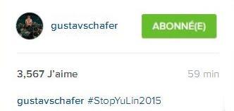Instagram Gustav Schafer : #StopYuLin2015