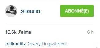 Instagram billkaulitz#tout ira bien