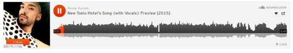 Audio-Extrait : nouvelle chanson de Tokio Hotel.