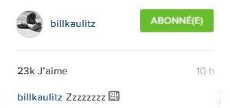 Instagram billkaulitz : Zzzzzzzz