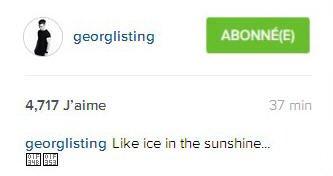 Instagram Georg Listing  : Comme de la glace sous le soleil ...