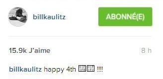 Instagram Bill Kaulitz :  joyeux 4 juillet!!!!